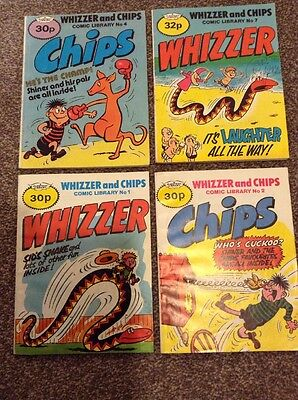 Whizzer And Chips Comic Library #1,2,4,7 1985