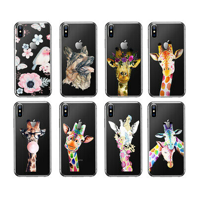 Giraffe Pattern Flip Soft TPU Skin Case Cover For iPhone 5 5s 6 6s 7 PLUS SE