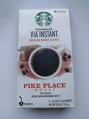 Starbucks Via Instant Pike Place Roast Medium Roast Coffee 8 Packets