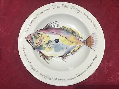 Large Bowl by Jersey Pottery , John Dory Illustrated by Richard Bramble