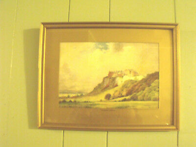 ART DECO ERA NORMILL PRINT STIRLING CASTLE signed F.Robson