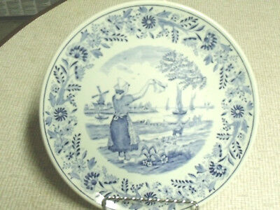 Delft Boch Blue And White Plate Dutch Girl