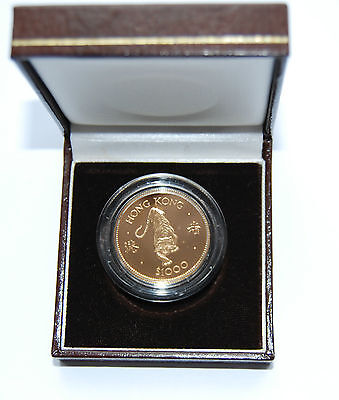 "1986 Hong Kong $1000 ""Year of the Tiger"" Gold Coin"