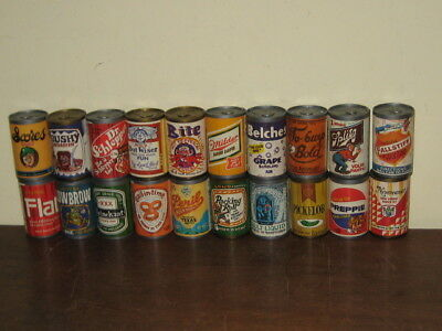 Vintage Fleer CHUG-A-CAN Candy Unopened Cans Series 1 Through 20