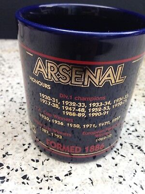 Vintage Arsenal Football Club Mug Highbury Era Honours 1993