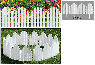 7 Ft. Long White Adirondack Garden Edging Border Stakes