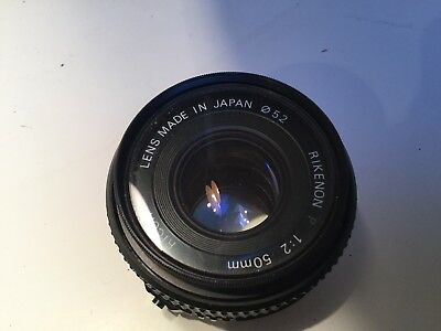 Ricoh Rikenon 50mm f2 lens with Jessop filter