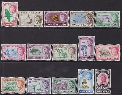 Cayman Is 1962-64 Definitive Set, Fine Uced, Cat £60
