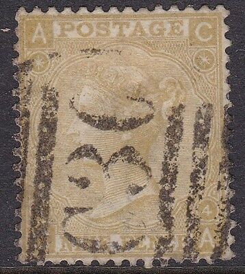 "Gb Used Abroad - Valparaiso, Chile, 1867 9D Straw ""c30"" Cancel, Cat £200+"