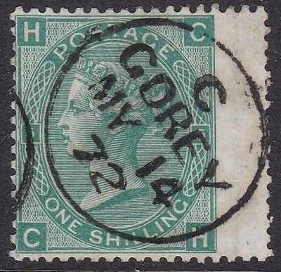 Gb Used In Ireland: 1867-80 1S Green Pl. 5 - Gorey (Wexford) Cds