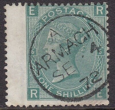 Gb Used In Ireland: 1867-80 1S Green Pl. 6 - Armagh Cds