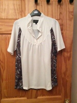 Equetech Ladies Snaffles Competition Shirt DARK BRIDLES Size UK 18