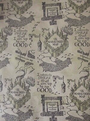 x/large 1m sheet harry potter wrapping paper-hogwarts map birthday-christmas