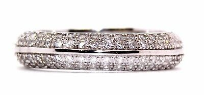 Sterling Silver Diamond 2.3ct Band Ring (925) Size 7 (N) Free Gift Box