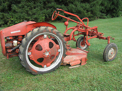 Allis-Chalmers Model G Tractor with 4ft Woods Belly-Mount Mower 1954