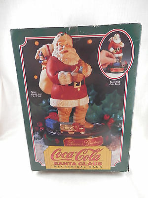 Coca-Cola Santa Claus Mechanical bank 1993 Retired first in series