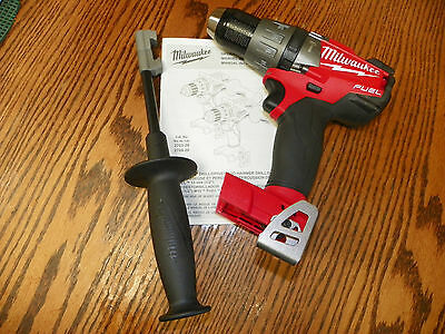 """New Milwaukee M18 2704-20 Brushless FUEL 1/2"""" Hammer Drill/Driver"""