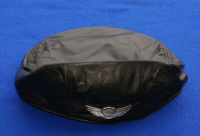 Harley Davidson 100th Anniversary Leather Ivy Cabbie Hat Cap 97682-03V NWT XL
