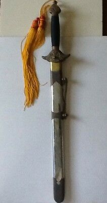 Asian Sword and Scabbard  Dragon Spider Web Ying Yang motifs Ceremonial?