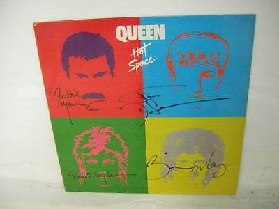 Queen Signed Lp Hot Space Freddie Mercury Full Group Piece