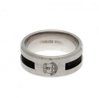 Official Football Everton F.C. Black Inlay Ring Large Xmas Gift