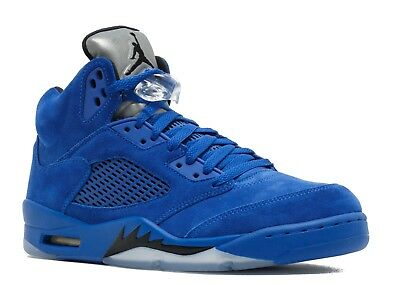 c2828e07d53d3 NEW DS 2017 Nike Air Jordan Retro 5 V BLUE SUEDE Game Royal Black 136027-