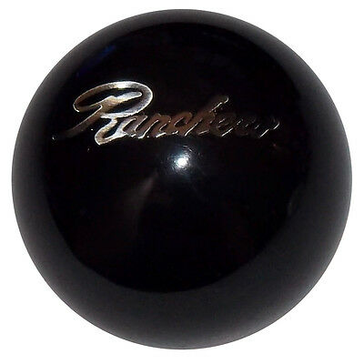 Ranchero Emblem Black Shift Knob 1/2-20 thread U.S. Made