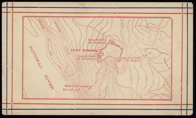US topographical map of Fort Sumner & Potomac River unused cover