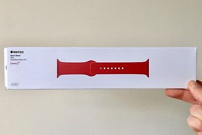 Sealed Box, Brand New Original Apple Sport Band    (PRODUCT)RED   38mm