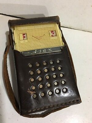 VINTAGE POCKET RADIO AJAX  MW (AM) With Case FROM  1960S VERY RARE