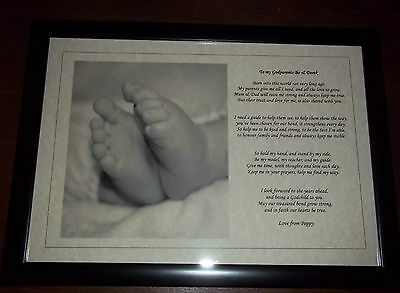 Personalised Christening Poem gift Godchild to Godfather/mother/Godparent