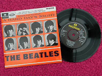 The Beatles Uk Parlophone Press Extracts From A Hard Day's Night E.p Mint-/mint-