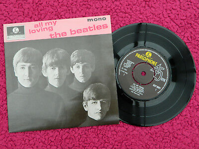 The Beatles Uk Parlophone Press All My Loving E.p Mint-/mint-
