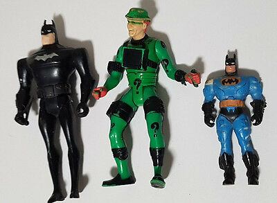 Batman And Riddler Plastic Figurine Toys 8-12Cm Tall