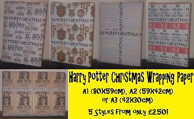 HARRY POTTER - Christmas Wrapping Paper - Hogwarts Alumni wizard birthday party