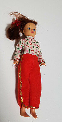 1992 Kid Kore Doll Brunette About 19Cm Tall Toy!