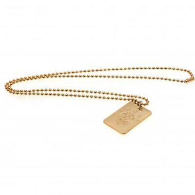Official Rangers F.C. Gold Plated Dog Tag & Chain Xmas Football Gift