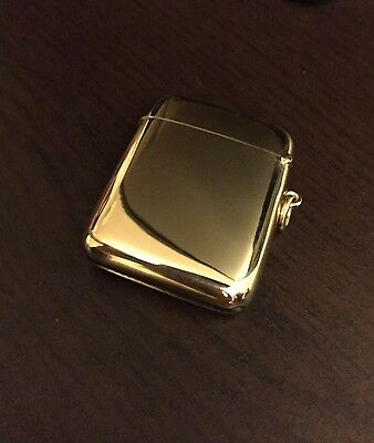9ct Yellow Gold Vintage Vesta Case