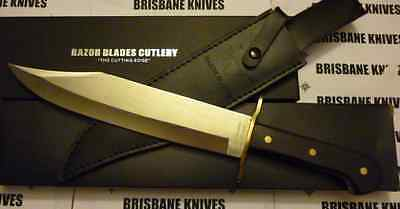 """Razor Blades """"antique Southern"""" Texas Style 14.75"""" Bowie Hunting Camping Knife"""