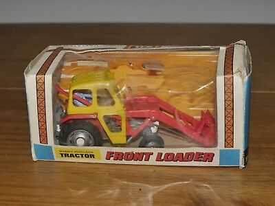 NOS Boxed Britains Diecast Massey Ferguson Front Loader Tractor No 9572