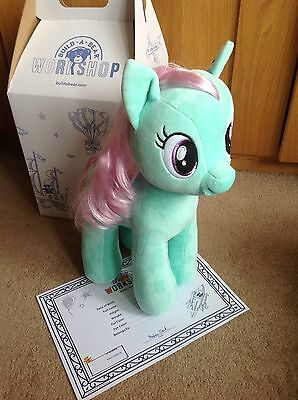 Build a Bear My Little Pony Minty with Mint scent -   BAB bag & certificate