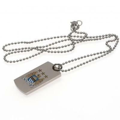 Official Football Manchester City F.C. Colour Crest Dog Tag & Chain Xmas Gift