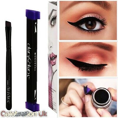 Vamp Stamp Easy Cat Eye Wing Eyeliner Stamp Eyeliner Ink VERGE Angle Brush Tool