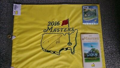 Masters pin flag signed Danny Willet + Extra's
