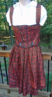 Dirndl 2-Pc Dress Outfit Edith Moden Original Vtg Octoberfest Germany Made sz 42