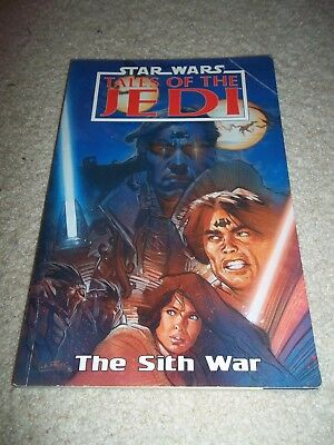 Star Wales Tales Of The Jedi The Sith War Graphic Novel TPB, 1996, Dark Horse