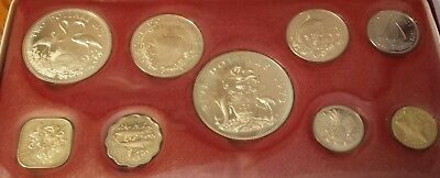 1973 Bahama Islands Proof Set 9 coins w 4 silver coins