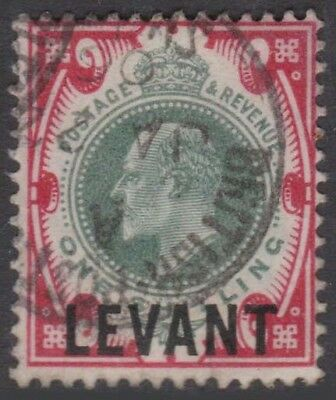 BRITISH LEVANT KEVII 1905-12 Issue 1 Shilling SGL10  Used cv £55