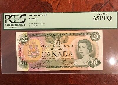 CANADA, BANK OF CANADA $20 1979 BC-54B 65PPQ GEM NEW. NOTE IN Superb Condition.