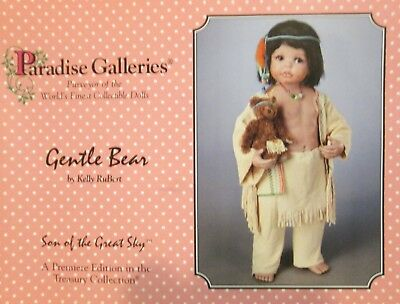 Paradise Galleries Gentle Bear Son of the Great Sky By Kelly RuBert Indian Child